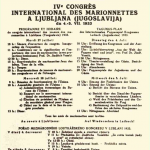 Cartel de congreso de Liubliana (Eslovenia), 1933