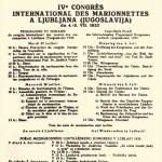 Poster of congress in Ljubljana (Slovenia), 1933