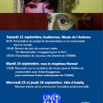 Affiche UNIMA pour le Festival mondial des théâtres de marionnettes (France), Par LC et FG, 2013