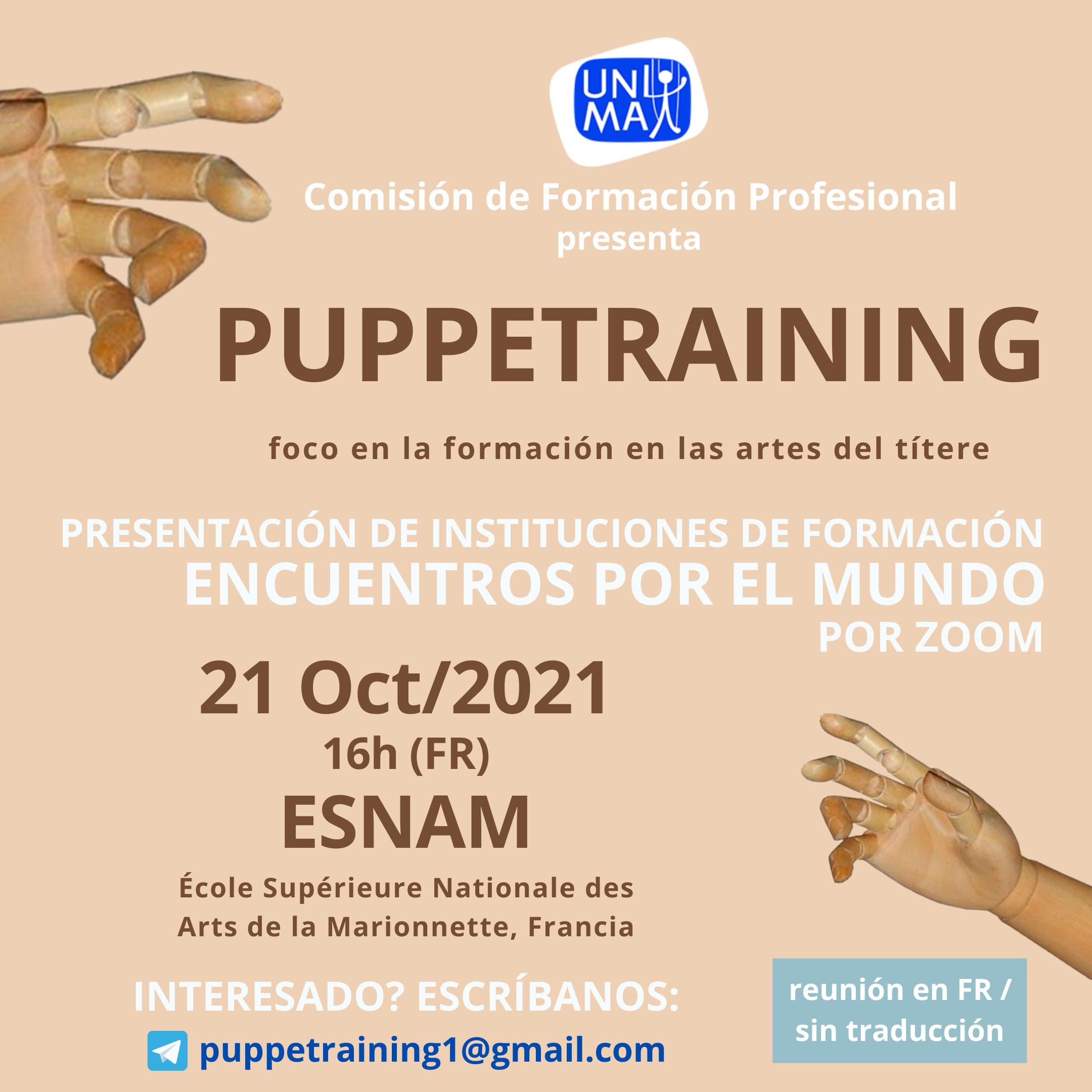 Puppetraining - Poniendo el foco en la formación profesional en las artes del títere