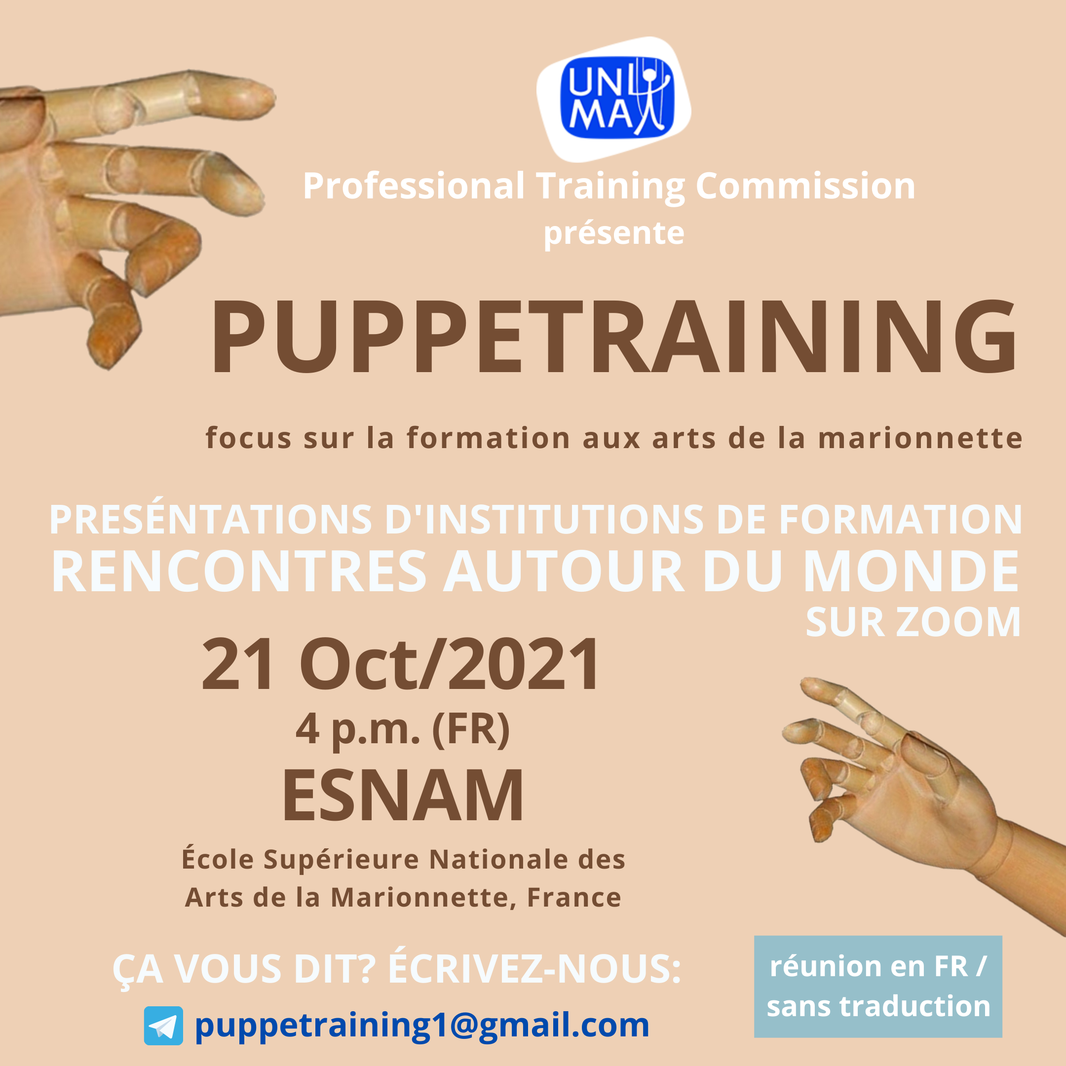 Puppetraining - Focus sur la formation aux arts de la marionnette
